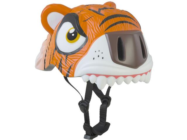 Crazy Safety Tiger Cykelhjelm Børn orange/hvid (2019) | Helmets
